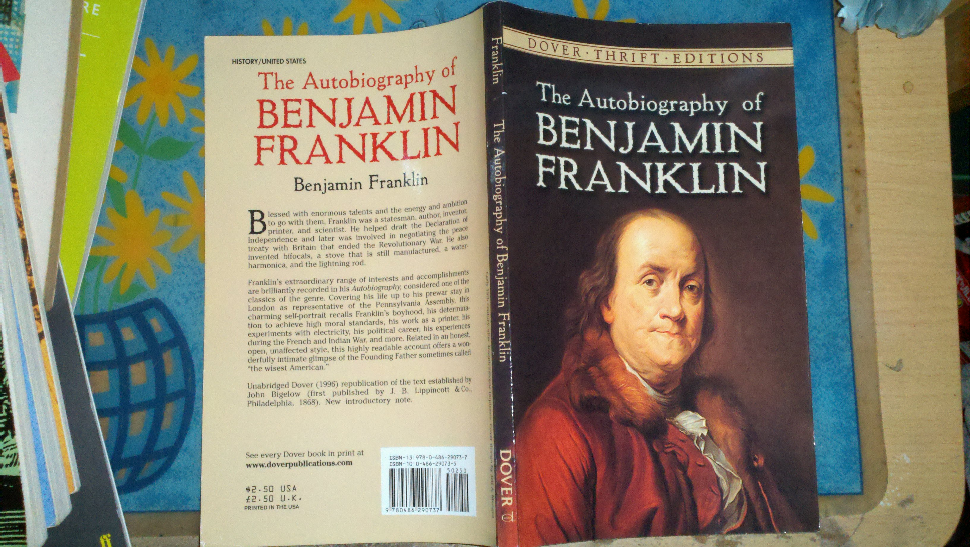 the autobiography of benjamin franklin dover thrift edition pdf